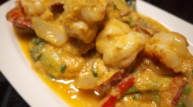 タイ料理の食べれる店 サワディー(伊那市;海老のカレー クンパッポンカリー)